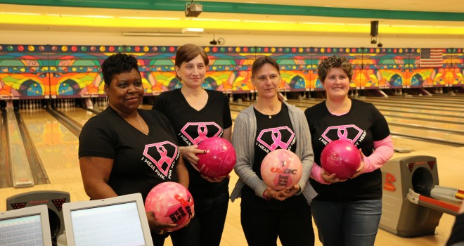 Video: Spare-a-Pair participants help to strike out breast cancer
